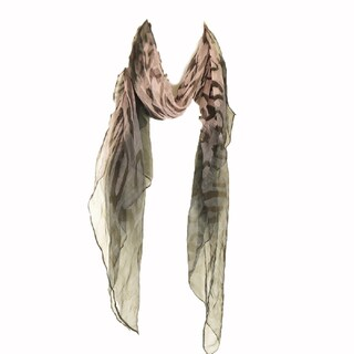 Zodaca Pink/ Grey Fashion Women Ladies Lightweight Soft 100-percent Chiffon Scarf Wrap Shawl