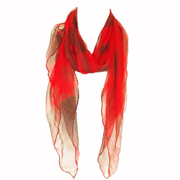 23c3c167dcd Zodaca Red Fashion Women Ladies Lightweight Soft 100-percent Chiffon Scarf  Wrap Shawl