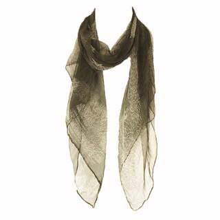 Zodaca Black Fashion Women Ladies Lightweight Soft 100% Silk Scarf Wrap Shawl for Women