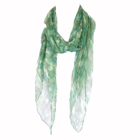 Zodaca Green Fashion Women Ladies Lightweight Soft 100-percent Chiffon Scarf Wrap Shawl