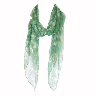 Zodaca Green Fashion Women Ladies Lightweight Soft 100-percent Chiffon Scarf Wrap Shawl