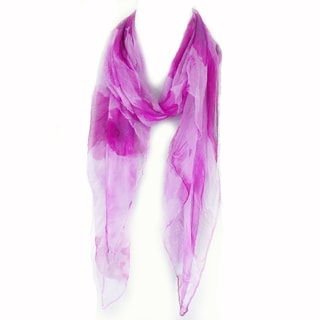 Zodaca Purple Fashion Women Ladies Lightweight Soft 100% Silk Scarf Wrap Shawl for Women