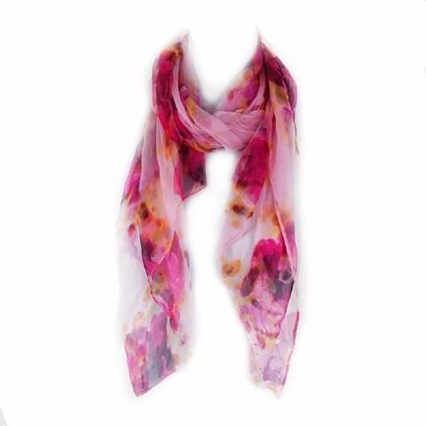 Zodaca Rose Red Fashion Women Ladies Lightweight Soft 100% Silk Scarf Wrap Shawl for Women