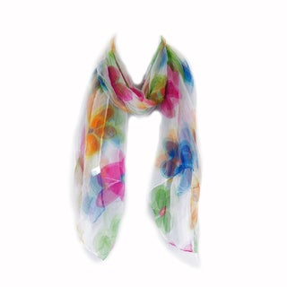 Zodaca Multi-color Fashion Women Ladies Lightweight Soft 100% Silk Scarf Wrap Shawl for Women
