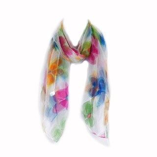 Zodaca Multicolor Fashion Women Ladies Lightweight Soft 100-percent Chiffon Scarf Wrap Shawl