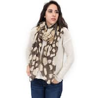 Zodaca Fashion Lightweight Blots and Stripe Print Scarf Shawl Wrap for Women