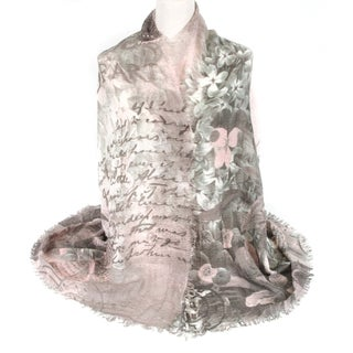 Zodaca Fashion Lightweight Cozy Floral Print Scarf Shawl Wrap with Fringed Edge for Women