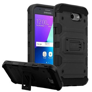 Insten Hard Snap-on Dual Layer Hybrid Case with Stand For Samsung Galaxy Amp Prime 2/ Express Prime 2/ J3 (2017)/ J3 Emerge (5 options available)