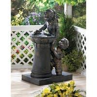 Enchanting Boy and Girl Water Fountain