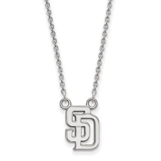 Sterling Silver San Diego Padres Small Pendant With Necklace