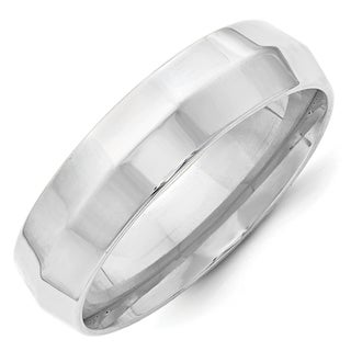 Link to 14 Karat White Gold 6mm Edge Comfort Fit Band by Versil Similar Items in Rings