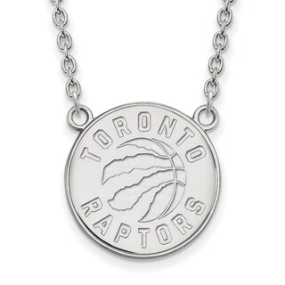 Sterling Silver Toronto Raptors Large Pendant with Necklace