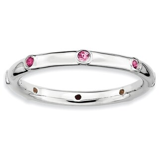 Sterling Silver Affordable Expressions Pink Tourmaline Ring (5 options available)