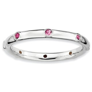 Sterling Silver Affordable Expressions Pink Tourmaline Ring