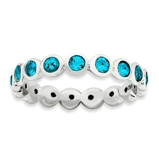 Sterling Silver Affordable Expressions December Swarovski Ring (More options available)