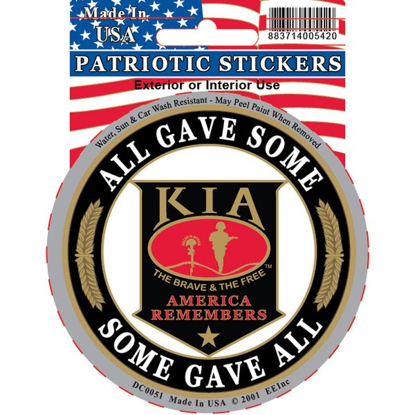 KIA Some Gave All American Remembers Car Decal