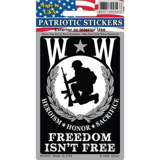 Wounded Warrior Freedom Isn't Free Car Decal