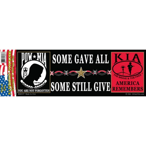 POW KIA America Remembers Bumper Sticker