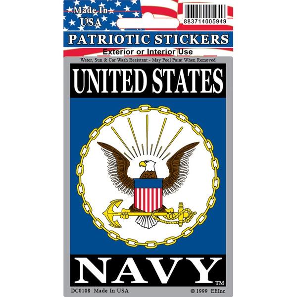 Patriotic US Navy Logo Car Decal