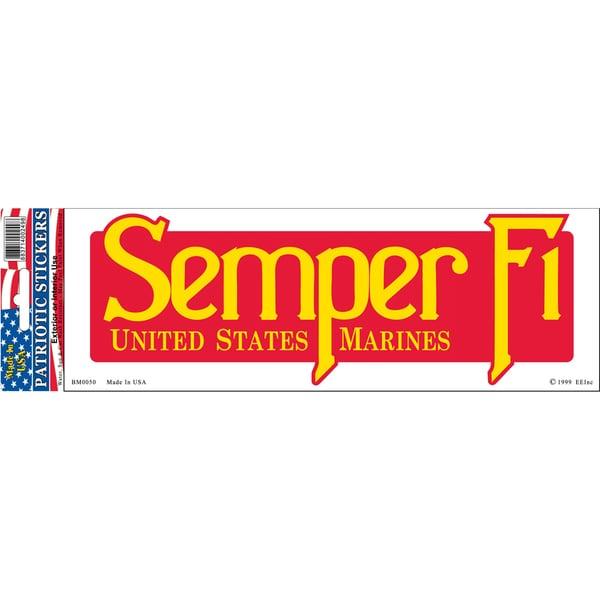 US Marine Corps Semper Fi Bumper Sticker