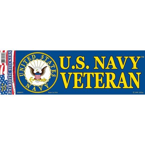 US Navy Veteran Logo Bumper Sticker