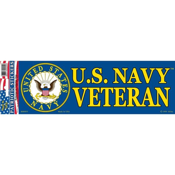 Shop Us Navy Veteran Logo Bumper Sticker Free Shipping