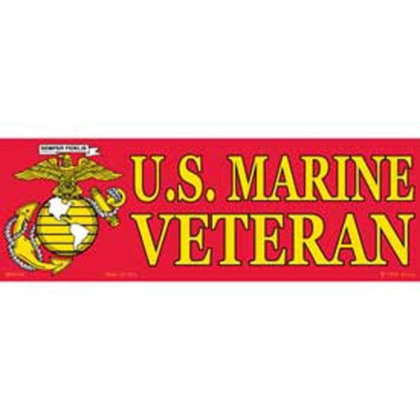 US Marine Corps Veteran Logo Bumper Sticker