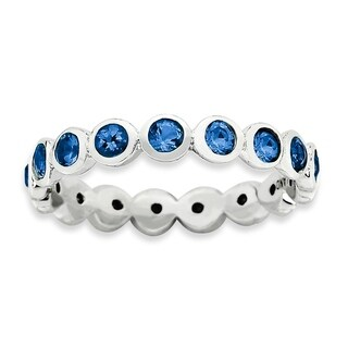 Sterling Silver Affordable Expressions September Swarovski Ring (More options available)