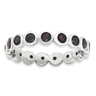 Sterling Silver Affordable Expressions January Swarovski Ring (More options available)
