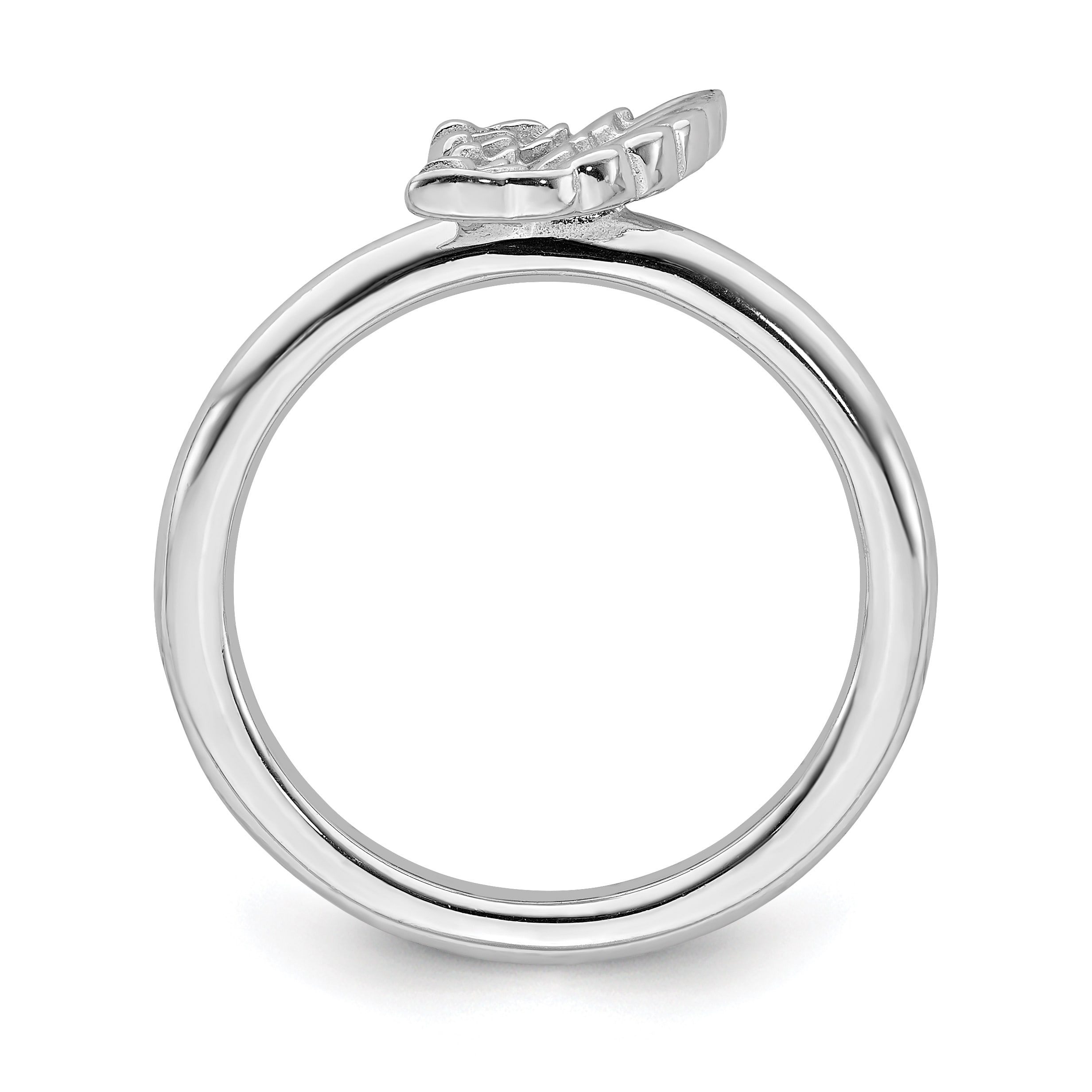 Sterling Silver Affordable Expressions Rhodium Angel Wing...