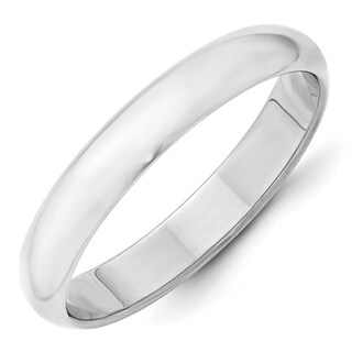 14 Karat White Gold 4mm Half-Round Band