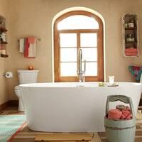 Shop Wyndham Collection Soho 72 Inch Freestanding Soaking Bathtub In