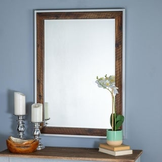 Cooper Classics Castle Mirror with Wood Frame