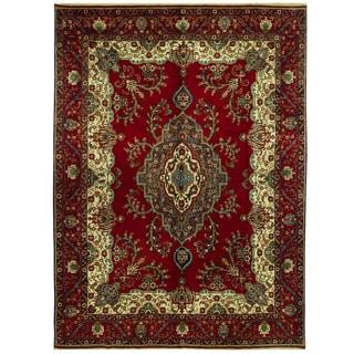 Herat Oriental Persian Hand-knotted Tabriz Wool Rug (10' x 13'6)