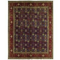 Herat Oriental Persian Hand-knotted Tabriz Wool Rug (10' x 12'10)