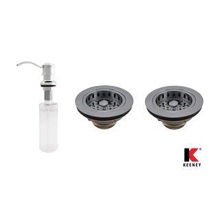Keeney KITK5445CPDS Basics Double Strainer Kitchen Kit, Polished Chrome