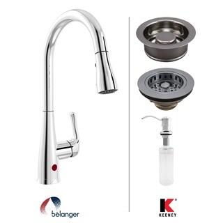 Keeney KITNEX76CPDS Essentials Double Strainer Kitchen Kit, Polished Chrome