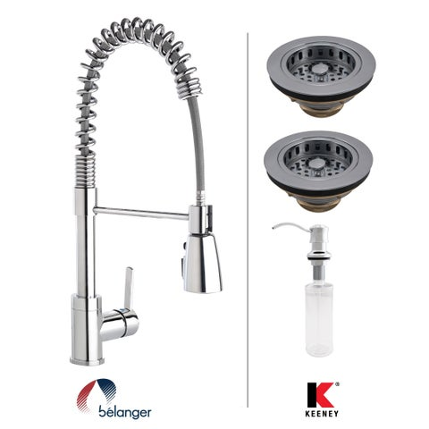 Keeney KITPRO78CPDS Essentials Double Strainer Kitchen Kit, Polished Chrome