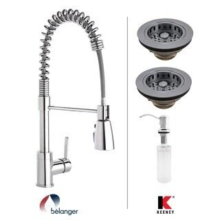 Keeney KITPRO78CPDS Essentials Double Strainer Kitchen Kit, Polished Chrome