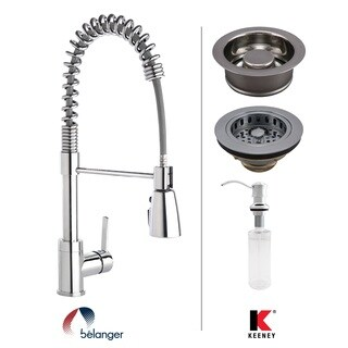 Keeney KITPRO79CPGD Premium Commercial Style Kitchen Kit, Polished Chrome