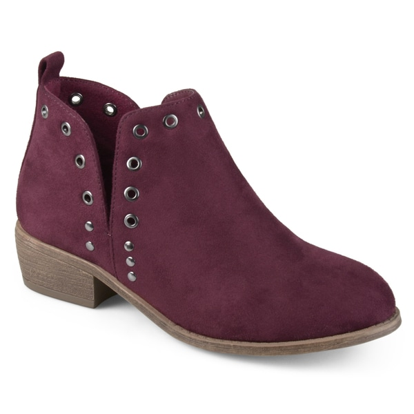 51ceb35a2d69e Shop Journee Collection Women s  Firth  Side Slit Stud Booties ...