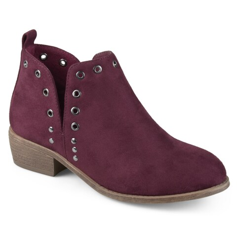 Journee Collection Women's 'Firth' Side Slit Stud Booties