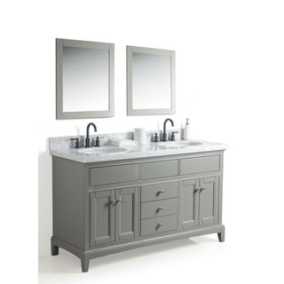 Legion Furniture 60-inch Sink with two 24-inch Mirror and Faucet