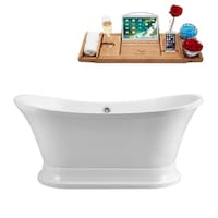 60 inch freestanding soaking tub. Streamline White 60 Inch Free Standing Soaking Tub With External Drain Freestanding With