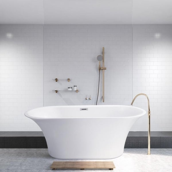 Shop Streamline 59 Inch Soaking Free Standing Tub With