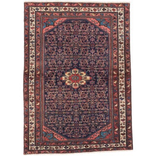 ecarpetgallery Hand-Knotted Malayer Blue Wool Rug (4'9 x 6'8)