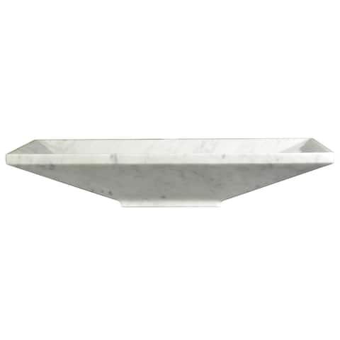 AA Warehousing Bliss Zen White Carrara Marble Sink