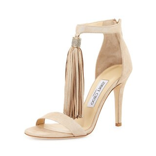 Jimmy Choo Viola Nude Shoes 38