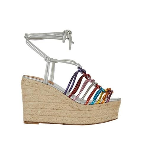 Chloe Rainbow Strappy Wedges