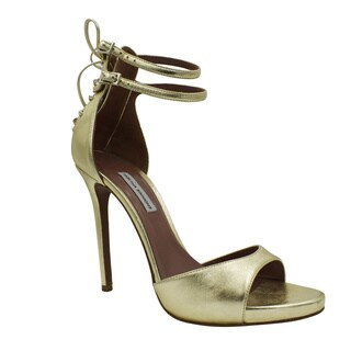 Tabitha Simmons Gold Viva Sandals
